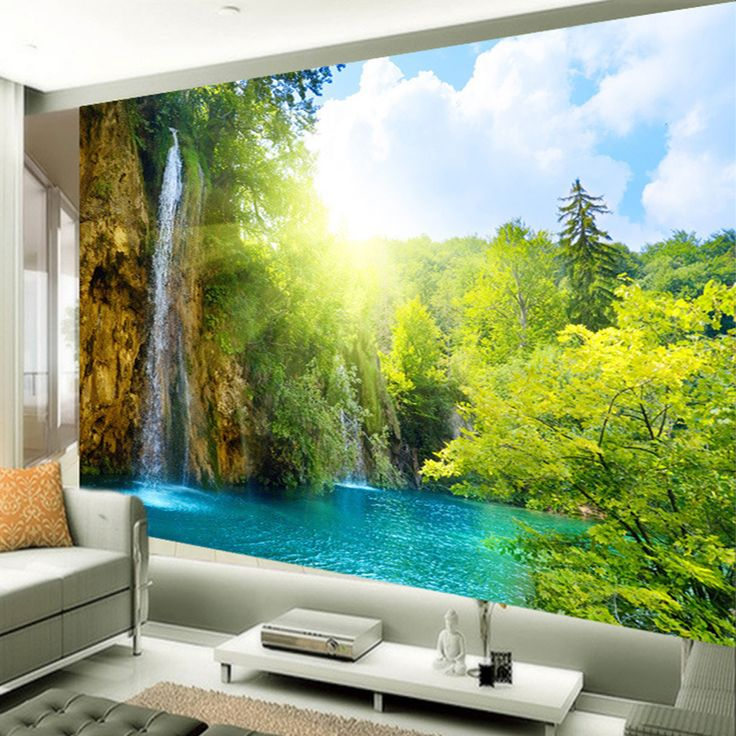 Cheap wallpaper smoother, Buy Quality wallpaper design directly from China wallpaper poster Suppliers: Chinese Style Photo Wallpaper Mountain And Water Scenery Custom 3D Falls Wall Mural Contact Paper Living Room Sofa Landscape