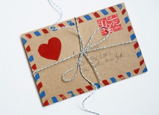 DIY airmail stamp