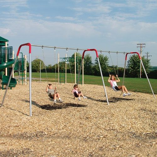Sportsplay Modern Metal Swing Set - Commercial Playground Equipment at Hayneedle