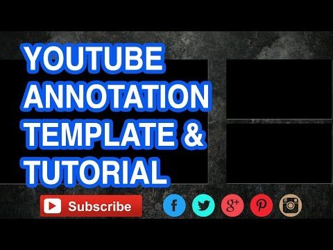 How To Use YouTube Annotations - FREE Call to Action Template - YouTube