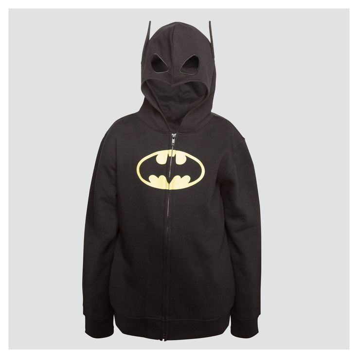Boys' Batman Costume Hoodie - Black XS
