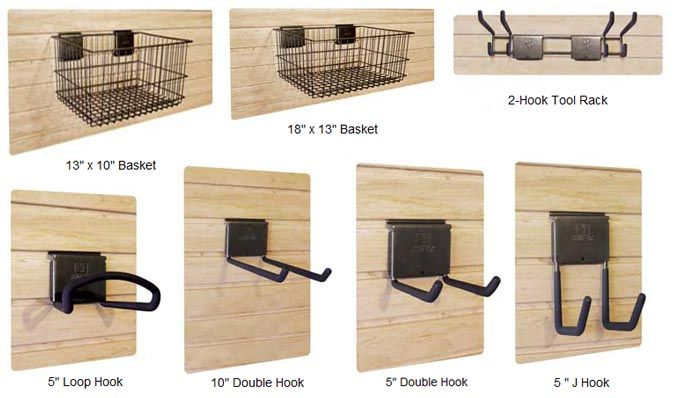 Slat-Wall Storage Organizers & Accessories | Slide-lok of Houston