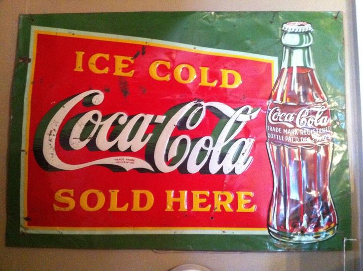 1000 images about coca cola metal signs on pinterest. Black Bedroom Furniture Sets. Home Design Ideas
