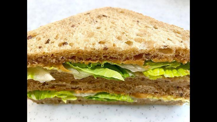 Peanute Butter and Lettuce Sandwich : สูตรอาหารแซนด์วิชเนยถั่วและผักกาดหอม