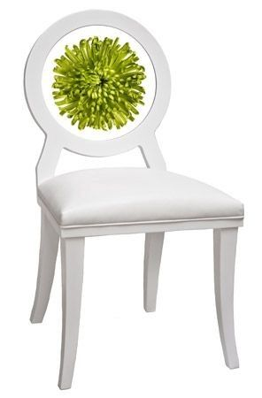 Green Mum Floret Chair (armless) - Floral Art