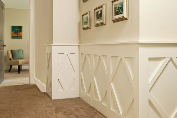 Leftover MDF scraps inspired this DIYer to create unique diamond-pattern wainscoting. | Photo: Deborah Whitlaw Llewellyn | thisoldhouse.com