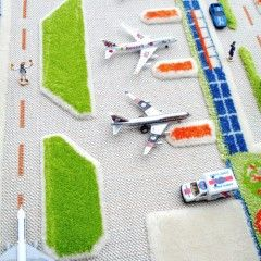IVI Mini City RD PLay Rug Airport Closeup