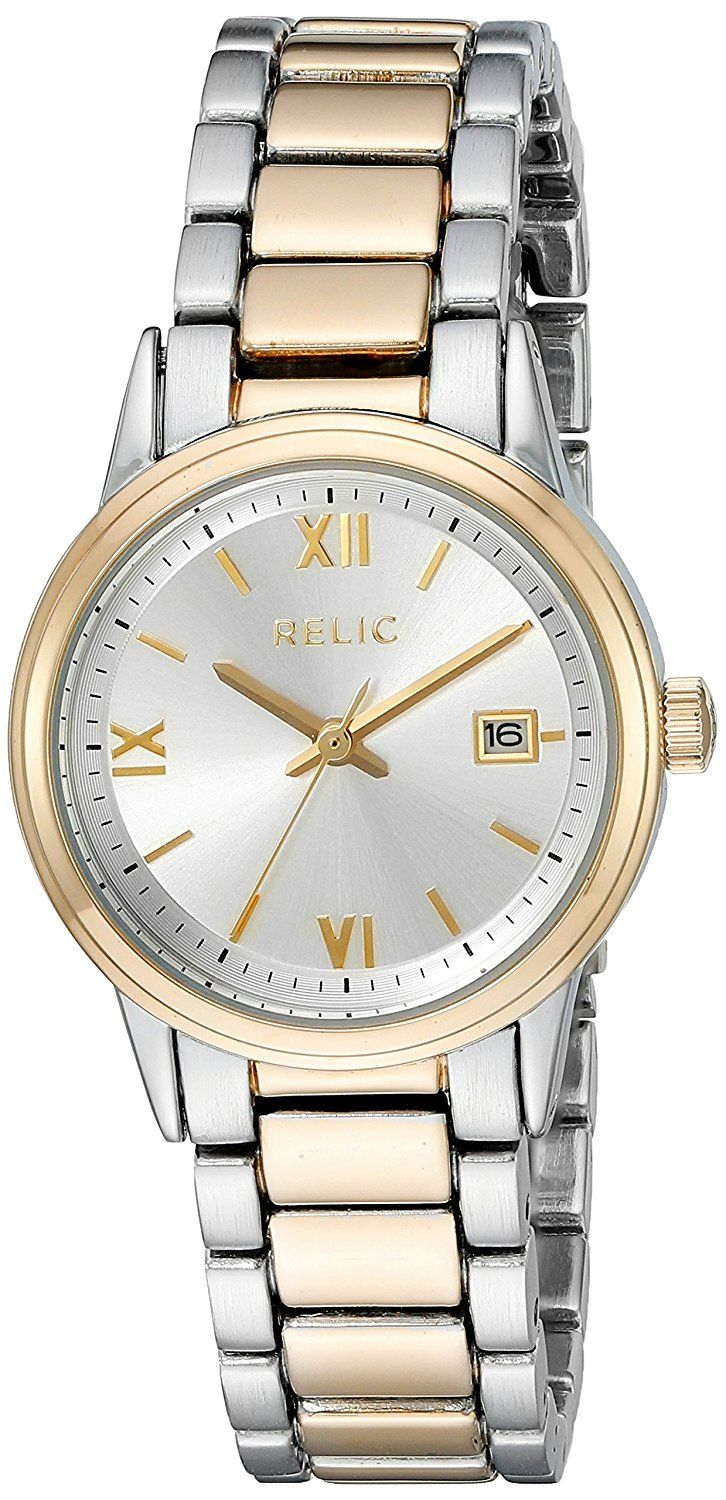 Relic Women's 'Dylan' Quartz Metal and Alloy Casual Watch, Color:Two Tone (Model: ZR34357) ** Click image to review more details.