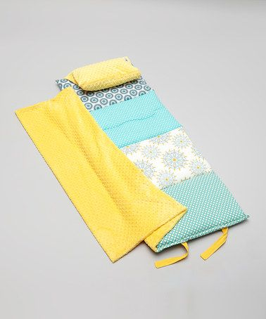Sew want to learn how to make these!  Teal & Yellow Indie Dreamer Quilted Nap Mat on #zulily! #zulilyfinds