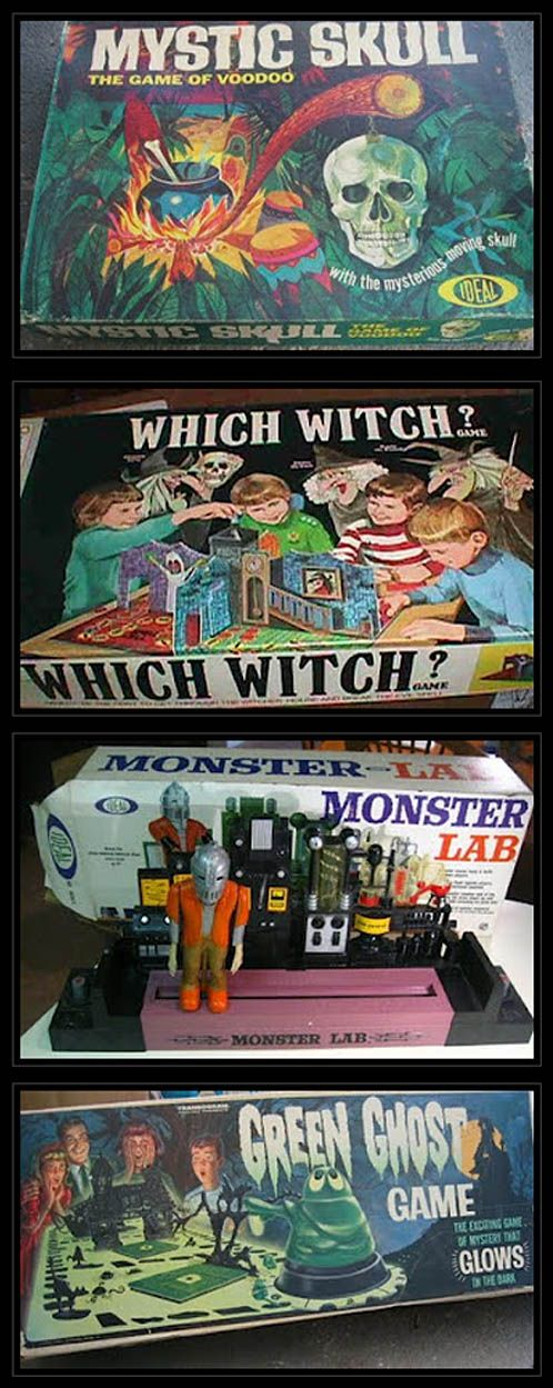 Vintage Spooky Games: why don't they make awesome stuff like this anymore?!