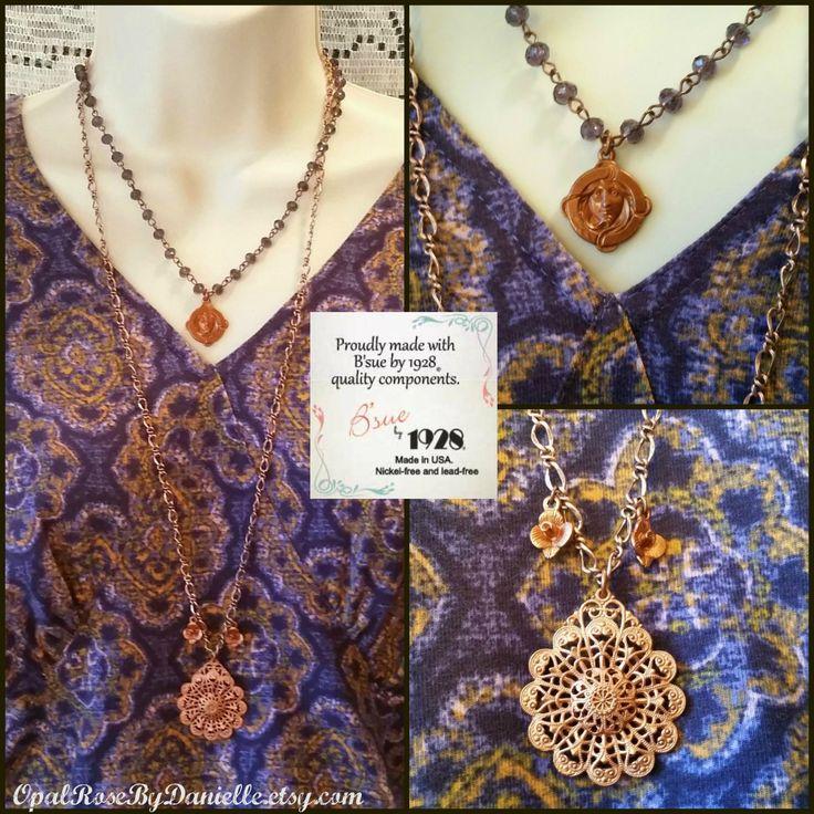 B'sue by 1928 gingerbread necklaces. OpalRoseByDanielle.etsy.com