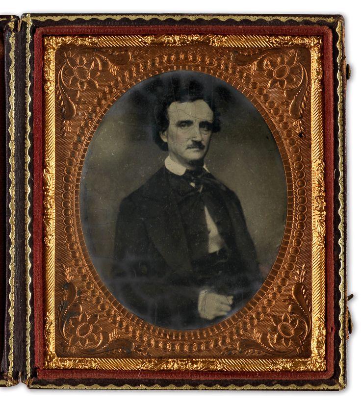 Sixth-plate tintype after a daguerrotype of Edgar Allan Poe, circa 1849-50s