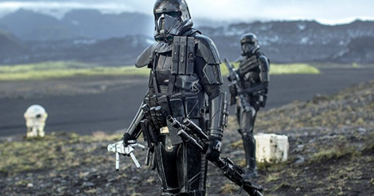 Stormtrooper Toy Will Play an Important Role in Star Wars: Rogue One -- A Death Trooper is seen holding a Stormtrooper doll in a new Rogue One photo, but what does it mean? -- http://movieweb.com/rogue-one-star-wars-story-stormtrooper-toy-photo/