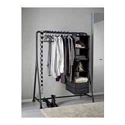 IKEA - TURBO, Kleiderständer, innen/außen, Für drinnen und draußen geeignet.Durch Klickfunktion leicht zu montieren.Flexibel einsatzfähig, inkl. Rollen.