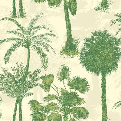 Coconut Grove Emerald Green wallpaper by Sophie Conran