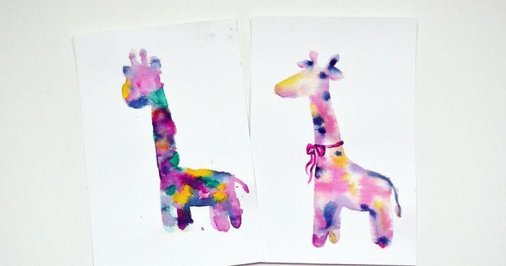 Mom vs. Daughter watercolour giraffe