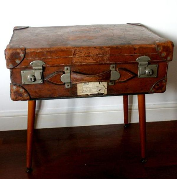 up-cycled suitcase table by Weckner Design