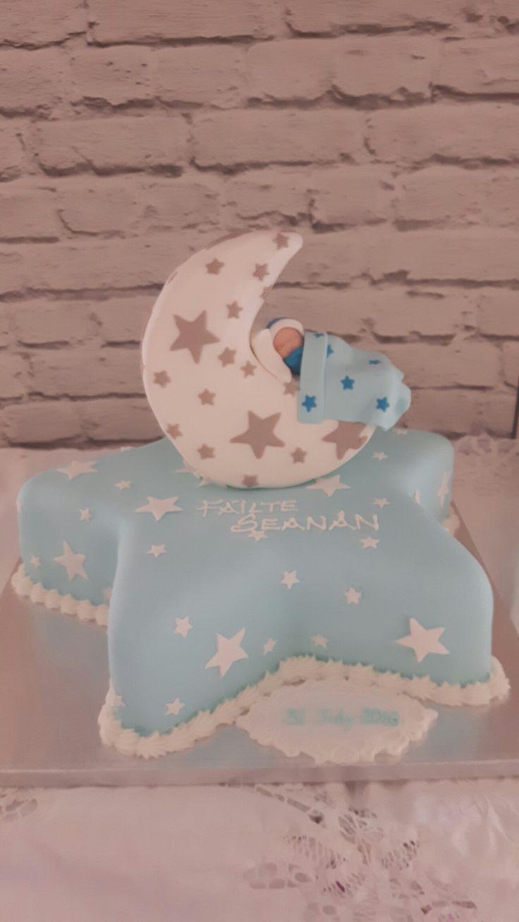 Christening star cake