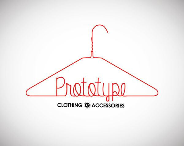 Prototype Clothing & Accessories Logo Design by Christina Muscato, via Behance