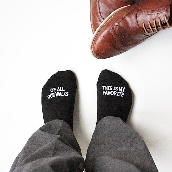 "Father of the Bride socks """"OF ALL OUR WALKS, THIS IS MY FAVORITE"""""