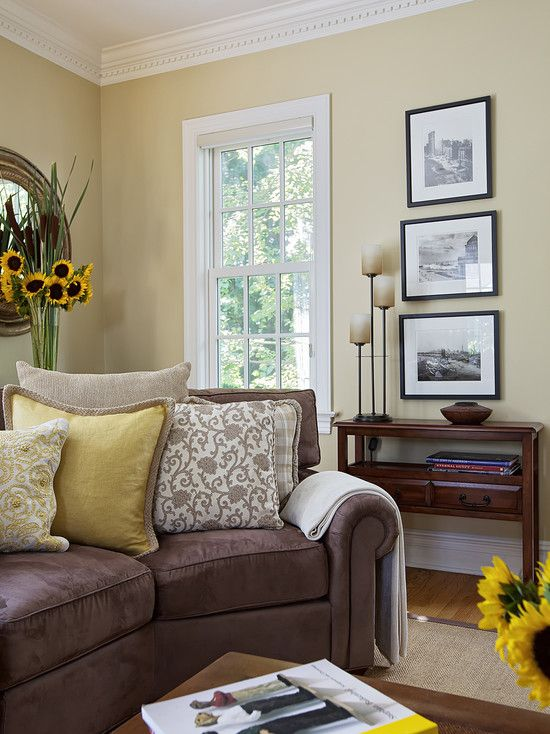 17 best ideas about brown couch decor on pinterest brown - Color for living room with brown furniture ...