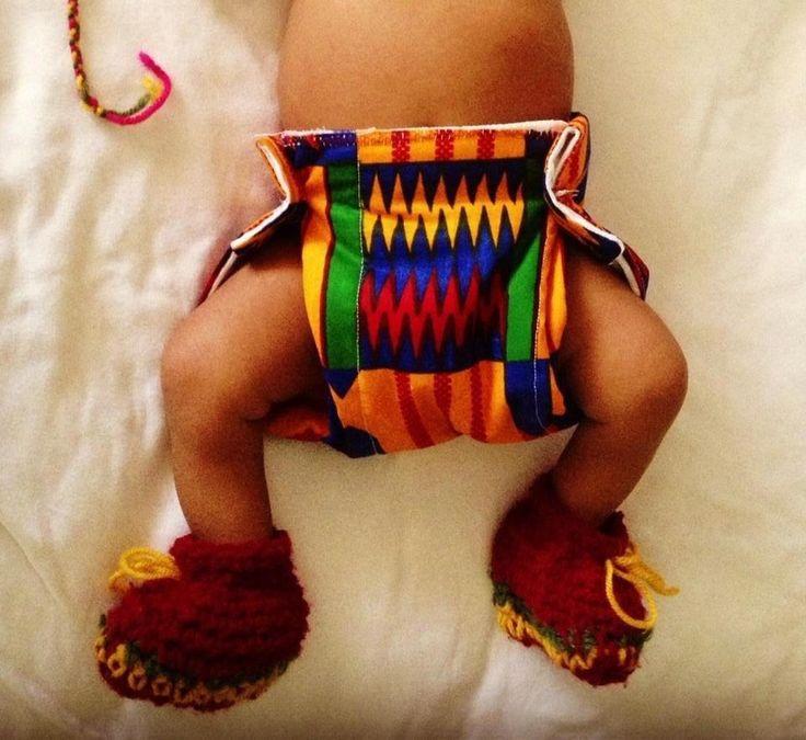 Cueca plástica feito com o tecido da cultura Akan, Made In Ghana