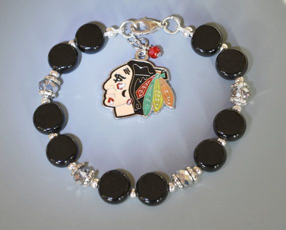 Chicago Blackhawks Bracelet Gifts/Chicago by SusanSerdarGallery