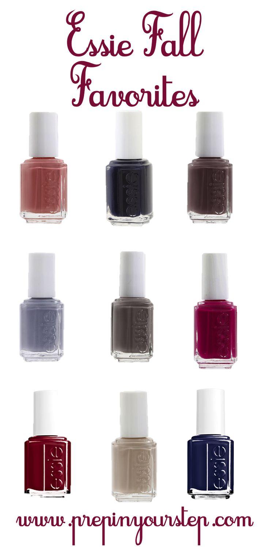 essie Fall nail polish favorites.
