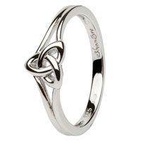 Shanore Trinity Knot Sterling Silver Ring
