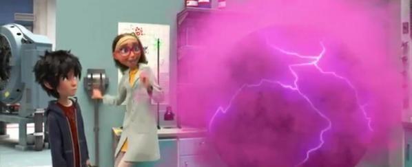 Hiro hamada and honey lemon and her pink chemical ball big hero 6