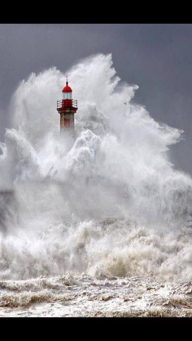 Waves crashing lighthouse | Lighthouses | Pinterest