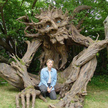 ~ Seattle Sculptress Kim Graham and Her Team Made This Amazing Troll Sculpture Out of Reclaimed Lumber, Discarded Cardboard, and Papier Mache ~