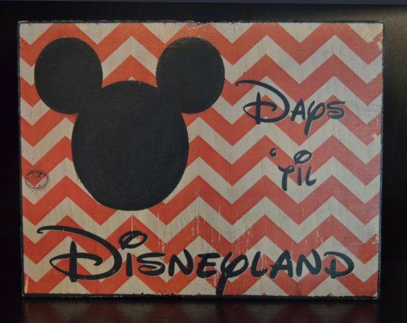 Chalk Countdown to Disneyland  Custom Countdown for
