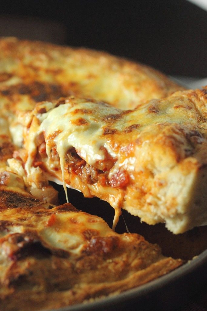 In need of a pizza? Try making this Deep Dish Meat Lovers Pizza for dinner tonight. I promise you will think that its delivery.
