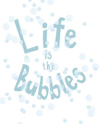 life is the bubbles.. little mermaid quote.. by studiomarshallarts