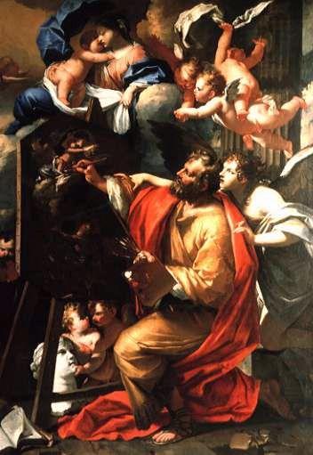 C.Dauphin - San Luca dipinge la Vergine