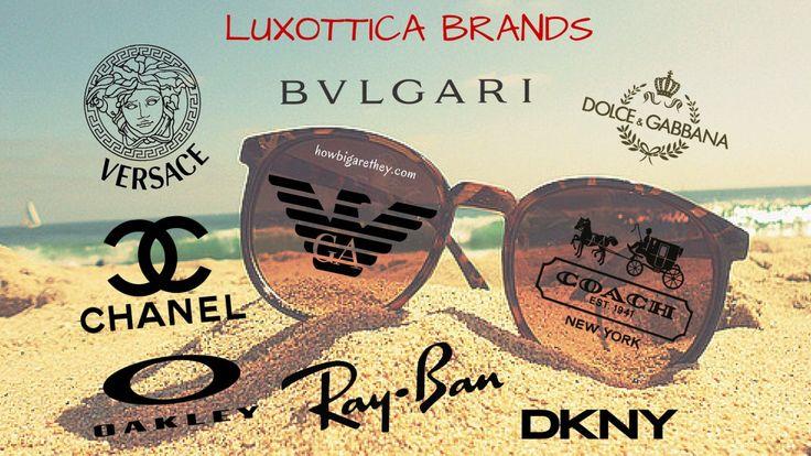 Brands Under Luxottica!  #Oakley #RayBan #Bvlgari #DKNY #Chanel #Luxottica #Eyewear #Brands #Fashion #Facts