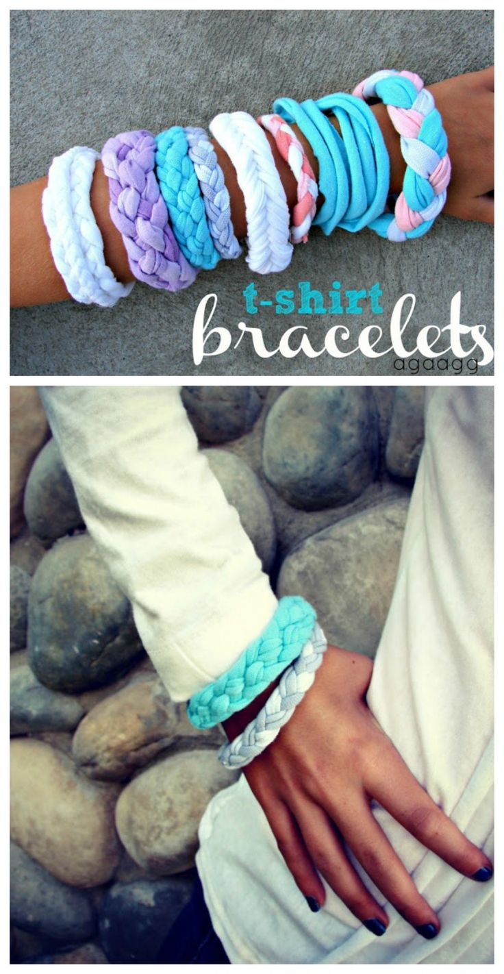 t-shirt bracelet…{kid craft monday}