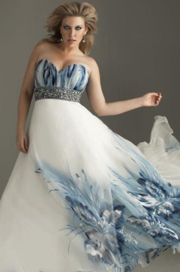 Plus Size Wedding Dresses With Color Dress Nour
