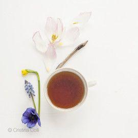 Tea & Flowers #2 - Tea Time collection - Modern still life - Limited Edition Giclée print © Cristina Colli