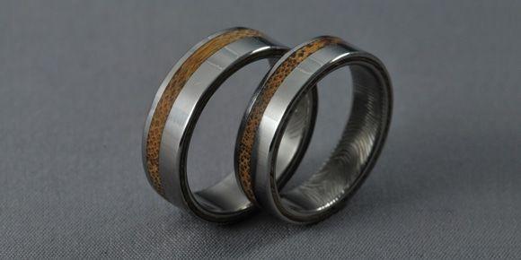 Bamboo   Titán/Bambusz/Ujjlenyomat  Jegygyűrű,Karikagyűrű