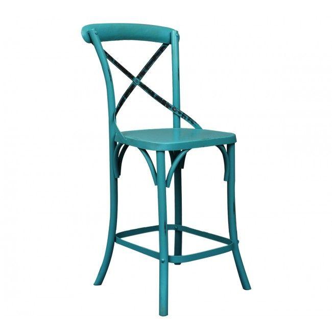 Twisted Blue металлический стул - Индустриальная коллекция Loft Art