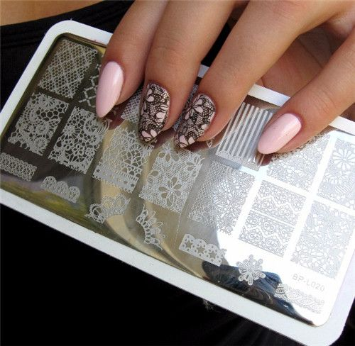 Lace Flower Pattern Nail Art Stamp Stamping Plates Template Image Plate BORN PRETTY BP-L020
