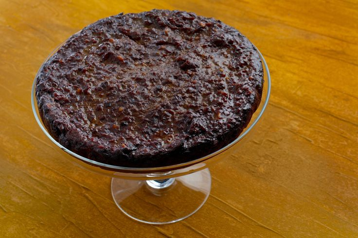 Jamaica  Traditional cake from Jamaica called black cake. Made with lots of mix brandy, rum, raisins and prunes.