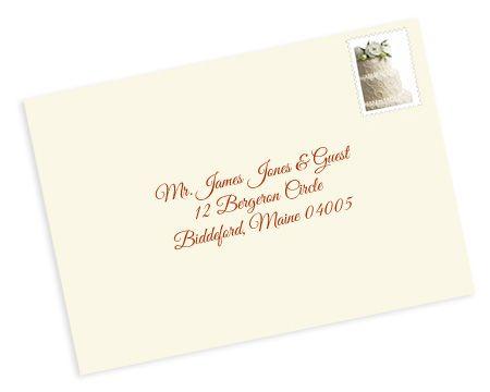 formal wedding envelope