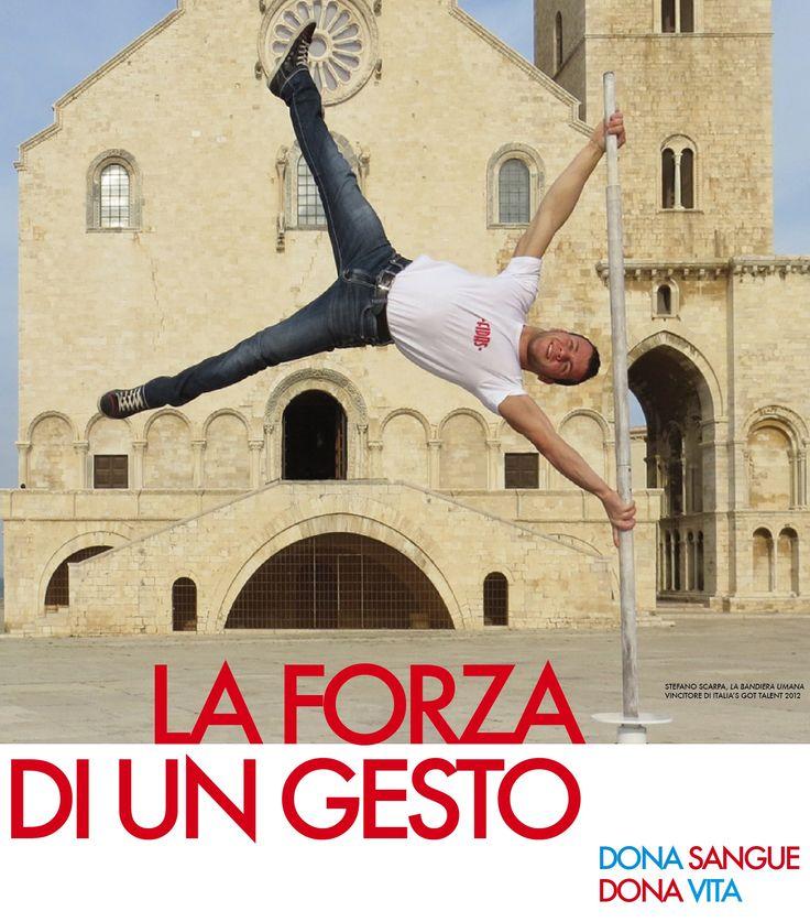La campagna di comunicazione FIDAS 2013 rivolta ai giovani con Stefano Scarpa, la bandiera umana
