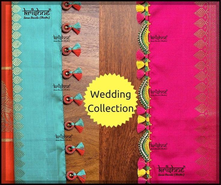 Check out our all NEW wedding & bridal silk saree tassel kuchu