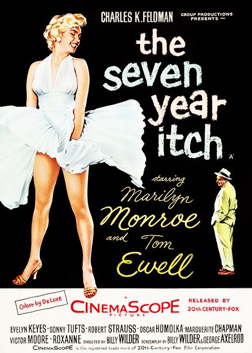 The Seven Year Itch poster, 1955.
