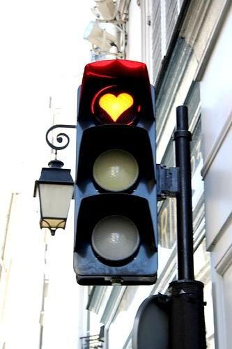 Traffic light in Paris