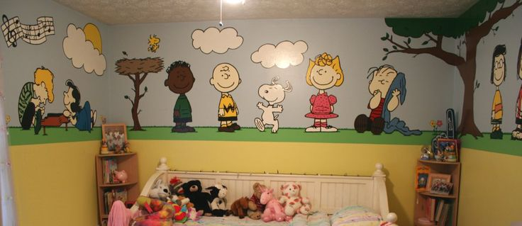 Peanuts Mural: Kid Bedrooms, Brown Nurseries, Peanut Nurseries, Baby Room, Peanut Murals, Nurseries Ideas, Charlie Brown, Kids Wall Murals, Baby Stuff